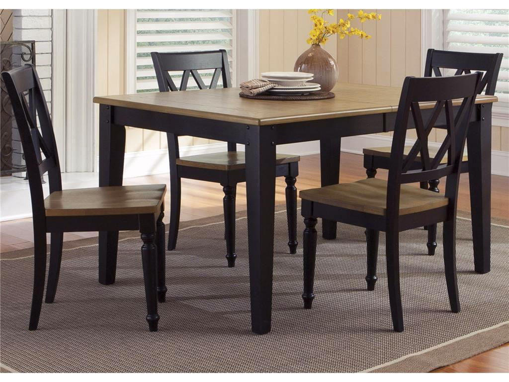 Al Fresco Two Tone Finish Casual Dining Furniture Set