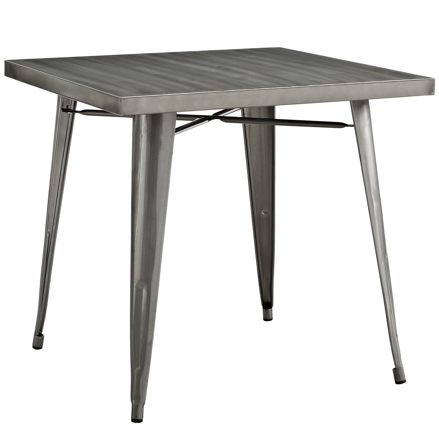 Alacrity modern industrial 32 steel square dining table for Square industrial dining table