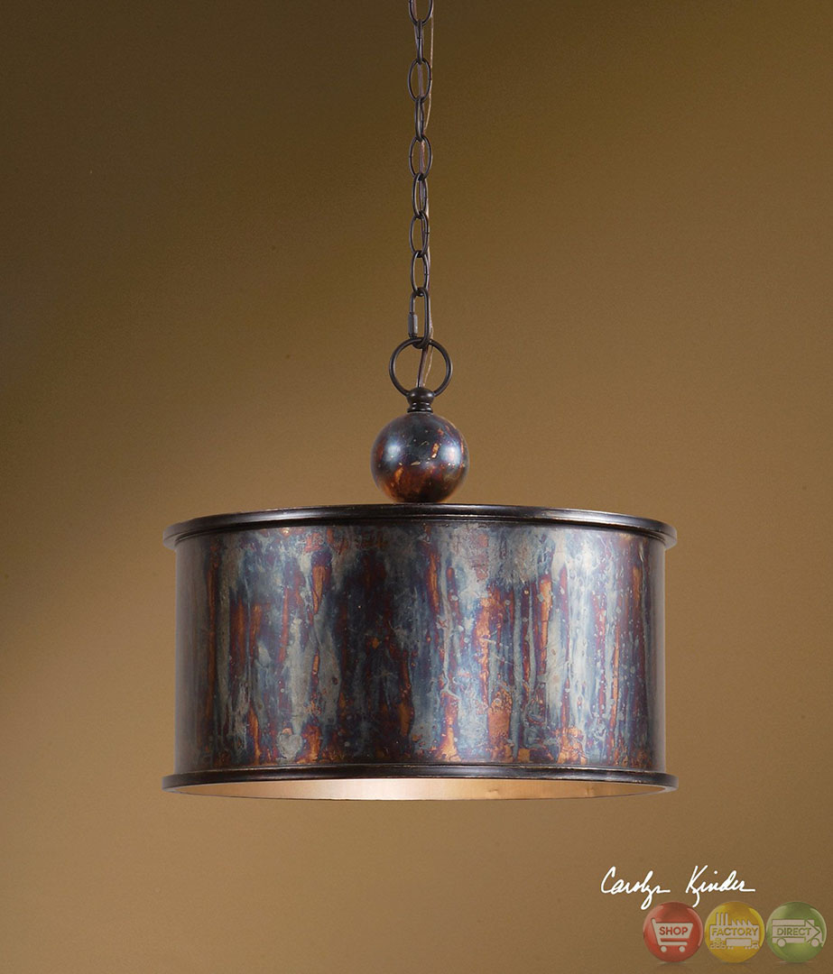 Albiano Traditional 1 Light Bronze Pendant 21921
