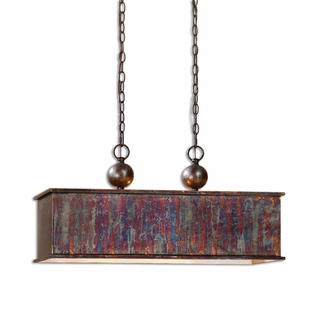 Albiano Traditional 2 Light Bronze Pendant 21922