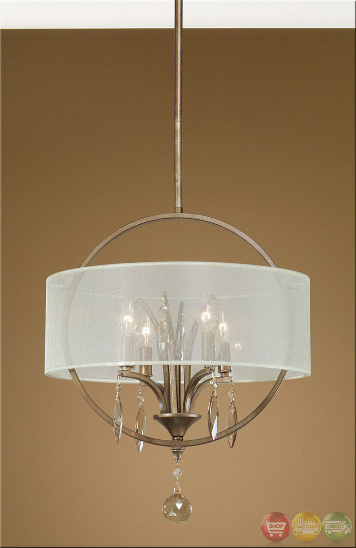 Alenya Contemporary 4 Light Fabric Drum Pendant 21962