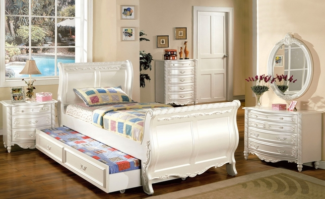 Alexandra Bedroom Set White Sleigh Bedroom Set Shop Factory Direct