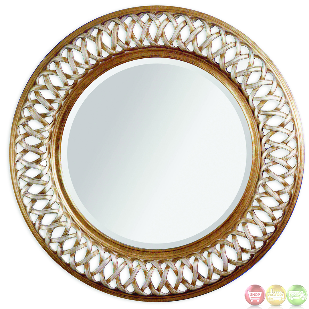 Alissa shimmer woven accent wall mirror 6357 711ec for Accent wall mirrors