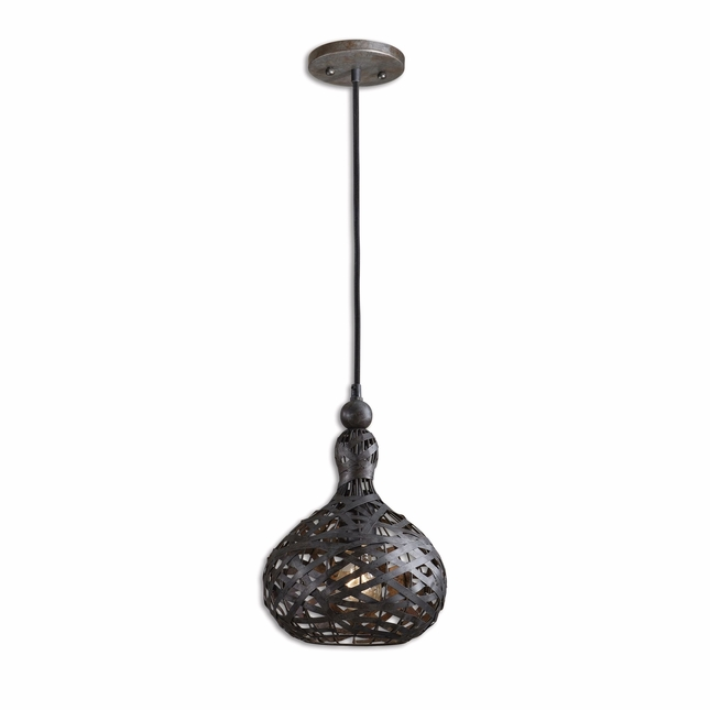 Alita Industrial Transitional 1 Light Mini Pendant