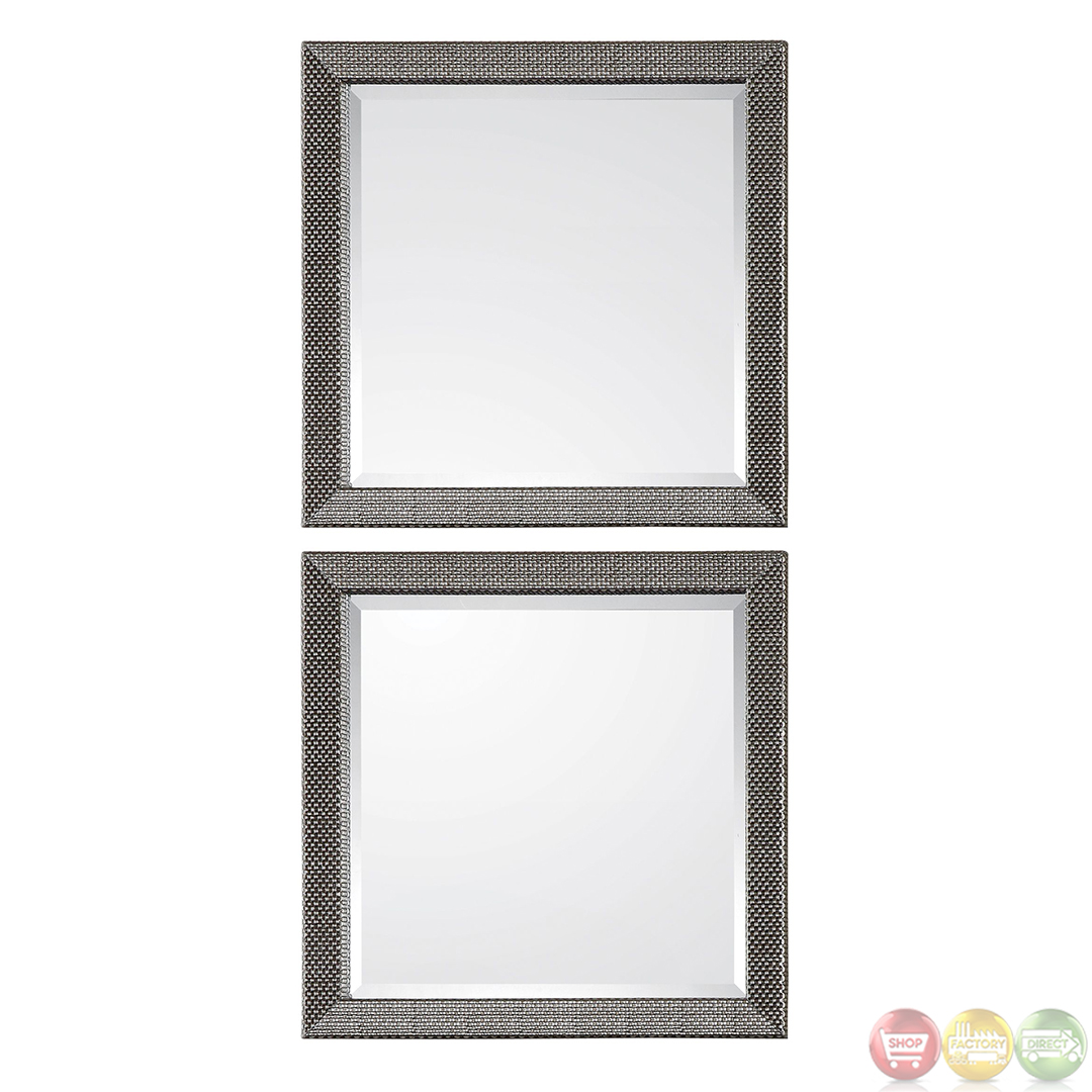Allia Traditional Basket Weave Silver Mirror 14608