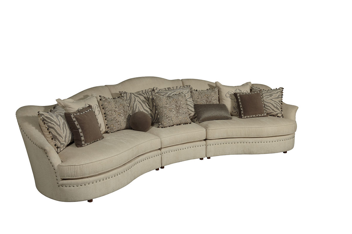 Curved sectional sofas Curved loveseat sofa