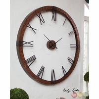Amarion Traditional Hammered Copper Sheeting Wall Clock  06655