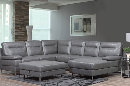 Amber Contemporary Sectional Sofa Set with Sinious Spring base