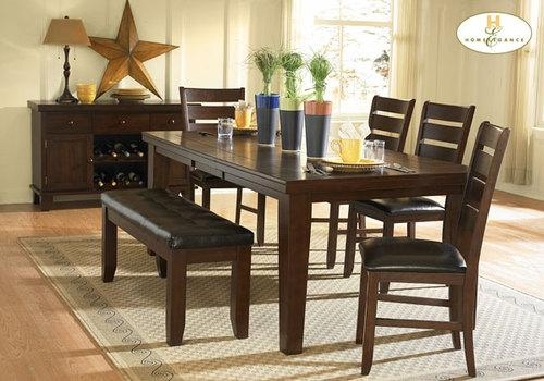 Ameillia Dining Room Set Table Chairs Wood Furniture