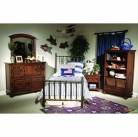 American Spirit Casual Off Black Metal Full Youth Bed
