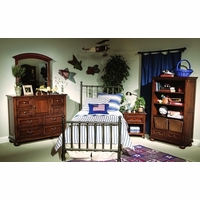 American Spirit Casual Off Black Metal Twin Youth Bed