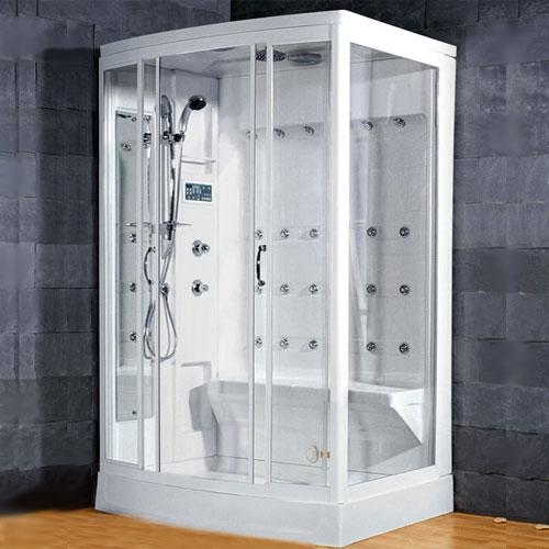 Ameristeam ZA219 Whirlpool Steam Shower White  - Atlas