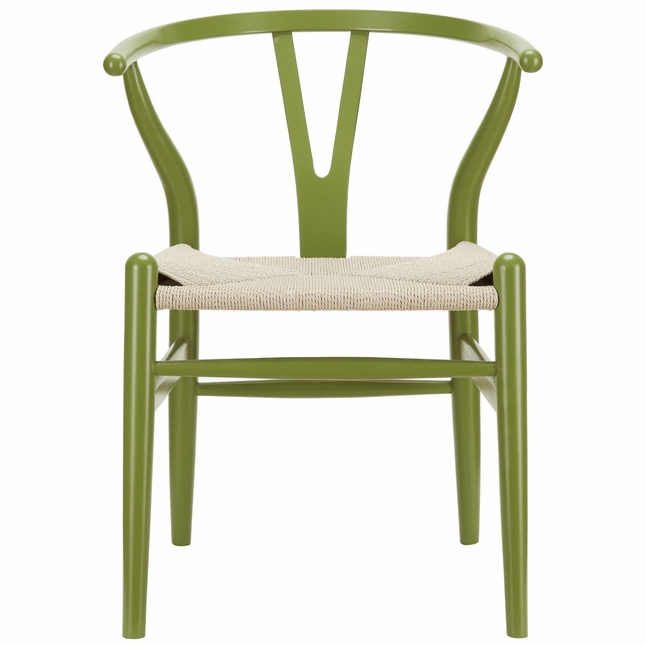 sc 1 st  Shop Factory Direct & Amish Contemporary Wood Armchair With Paper Rope Twine Seat Green