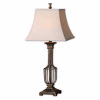 Anacapri Antiqued Gold Leaf Finish Table Lamp 26262