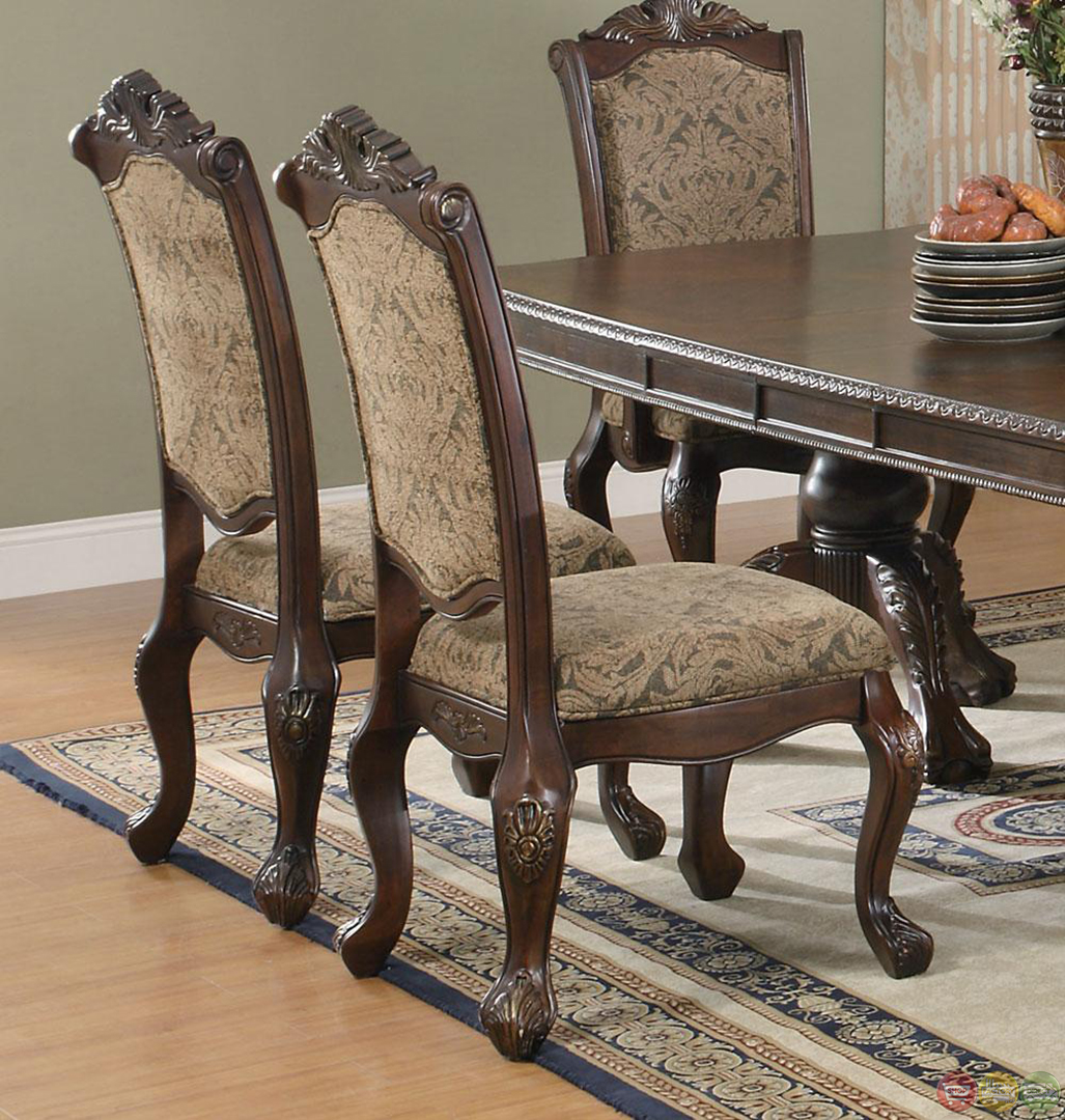 Traditional Formal Dining Room Sets: Andrea Cherry Finish Formal Dining Room Table Set
