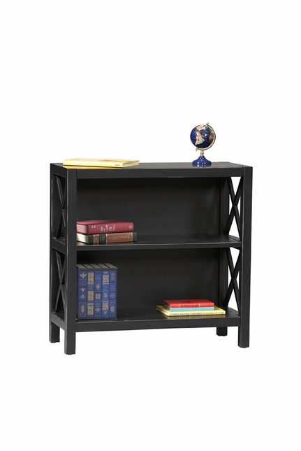 Anna Antique Black Finish Modern Bookcase