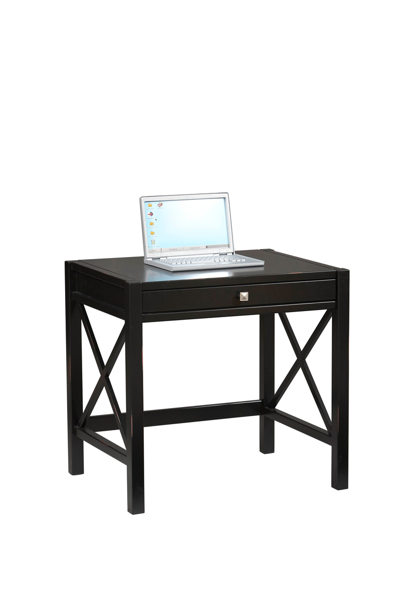 Antique Black Computer Desk Mission Style Laptop Desk
