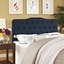Annabel Modern Fabric Button-tufted Arched King Headboard, Navy