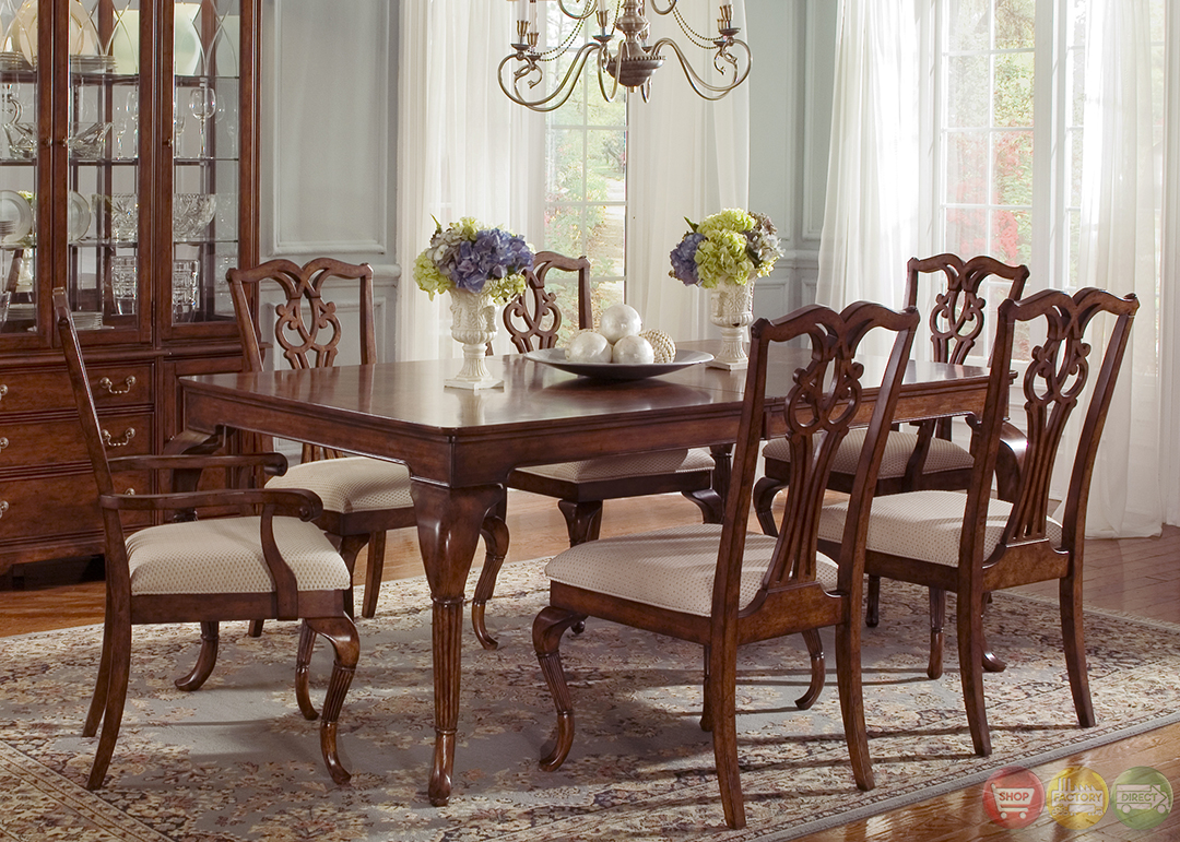 Ansley manor rectangular formal dining room set for Formal dining room sets