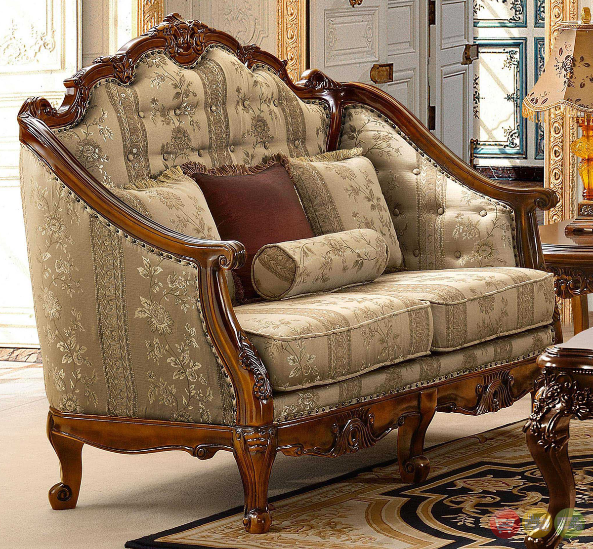 Antique style luxury formal living room furniture set hd 953 for Living style furniture
