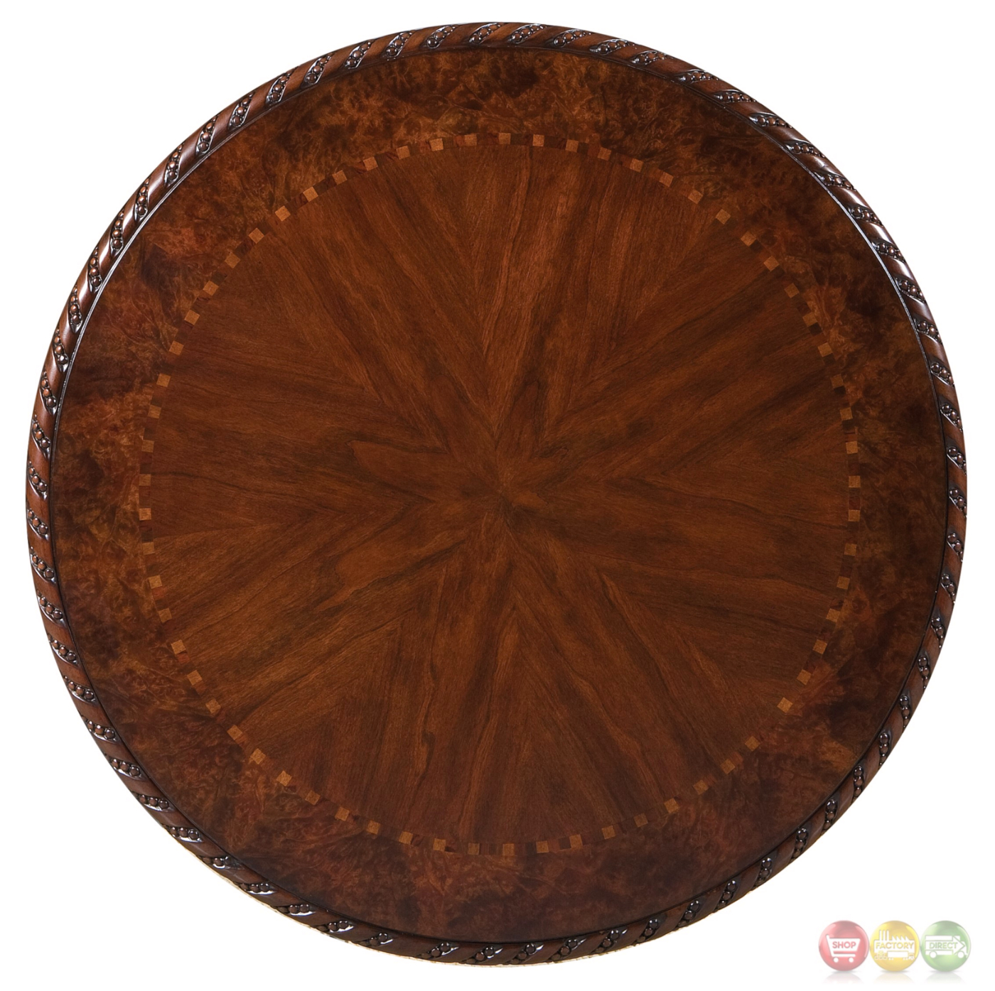 Antoinette Mahogany Round 33 Quot Pub Table With Distressed