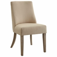 Antonelli Beige Linen Chair With Nailhead Trim, Set of 2