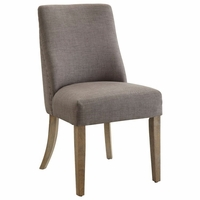 Antonelli Grey Linen Side Chair With Nailhead Trim, Set of 2