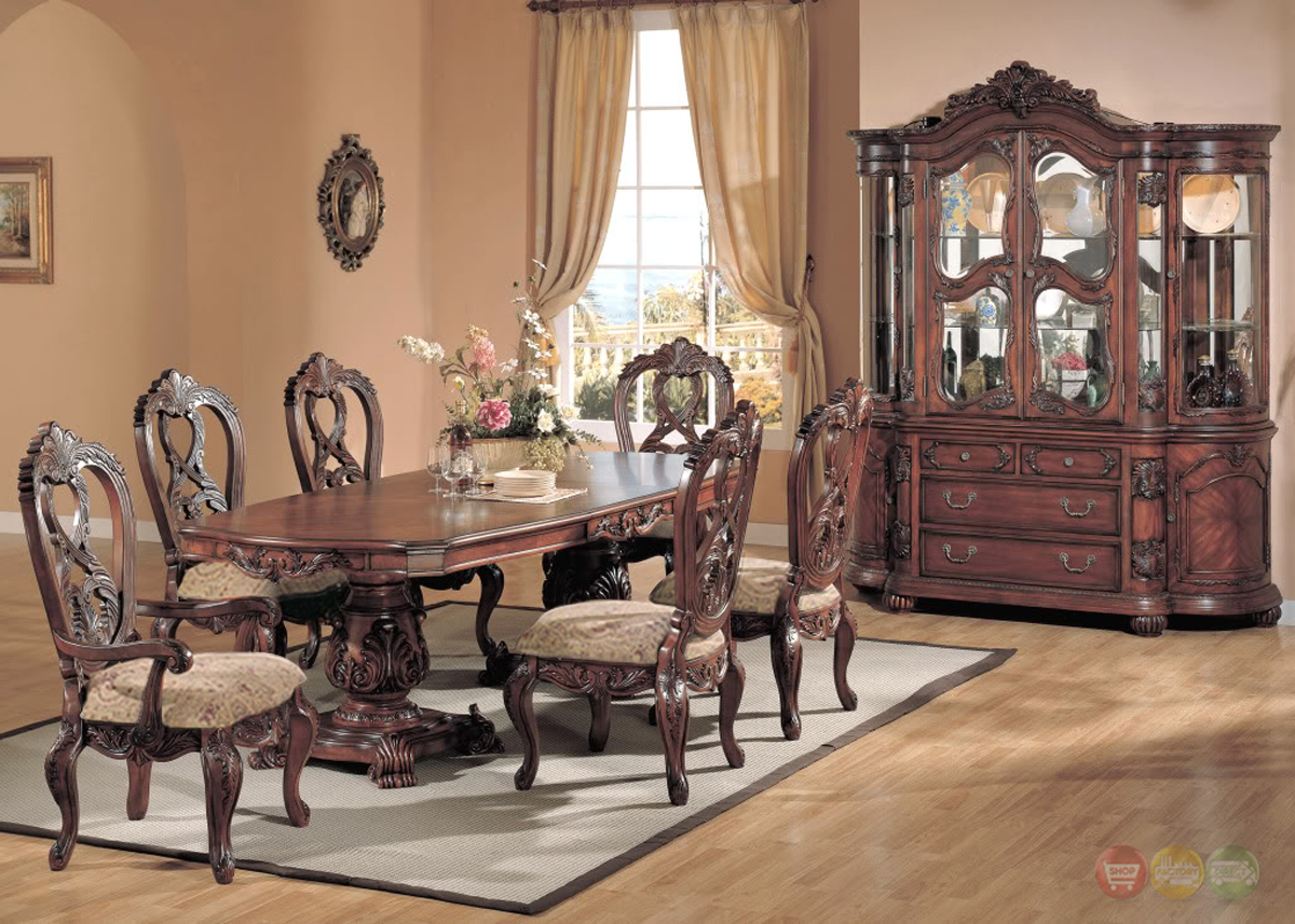 Formal dining room furniture marisol cherry finish for Formal dining room furniture