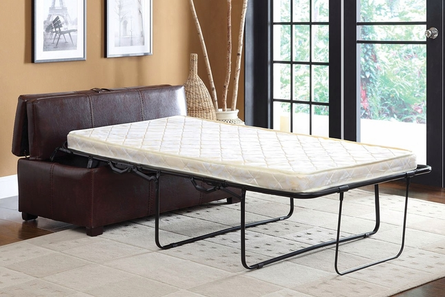 apolline brown ottoman with pull out twin bed. Black Bedroom Furniture Sets. Home Design Ideas
