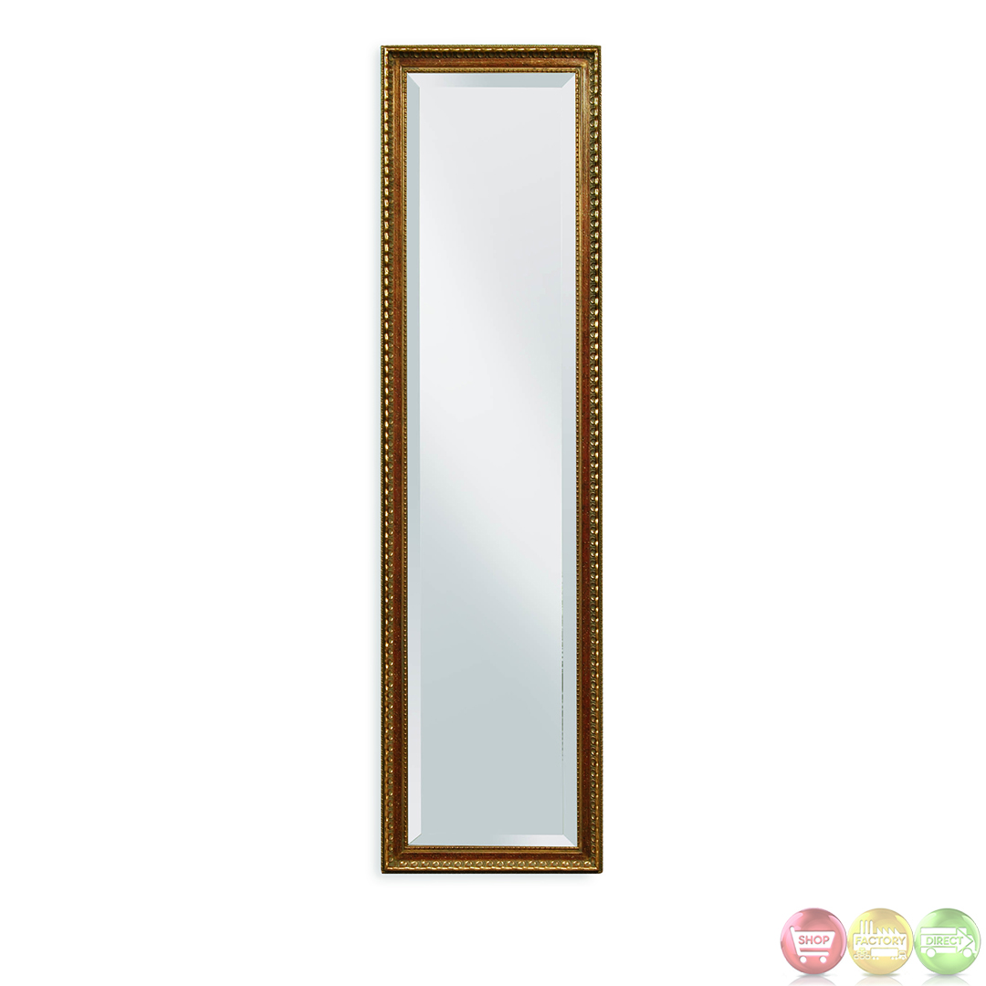 Arabella antique gold tall skinny cheval mirror m2638bec for Tall skinny mirror