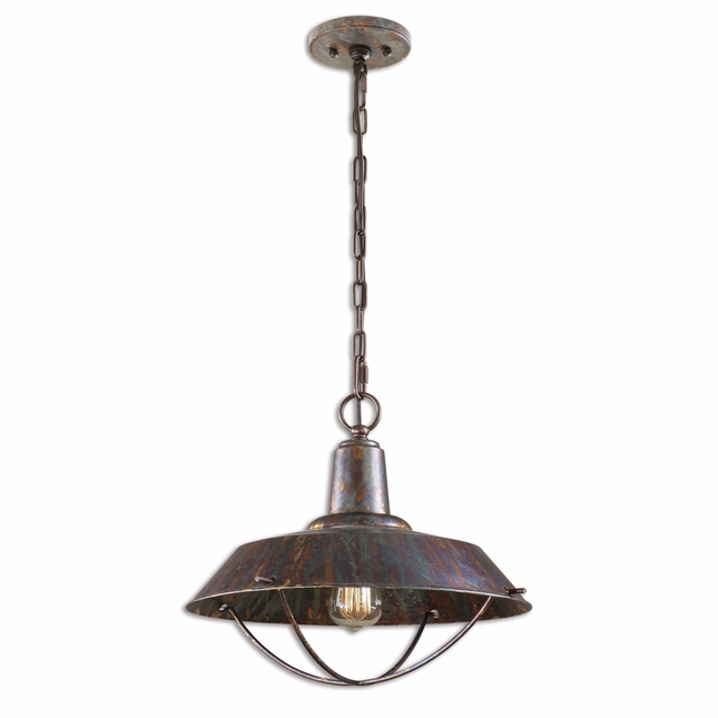 Arcada Traditional 1 Light Bronze Pendant 21974