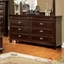 Arden Transitional Espresso Bedroom Set with Leatherette Headboard