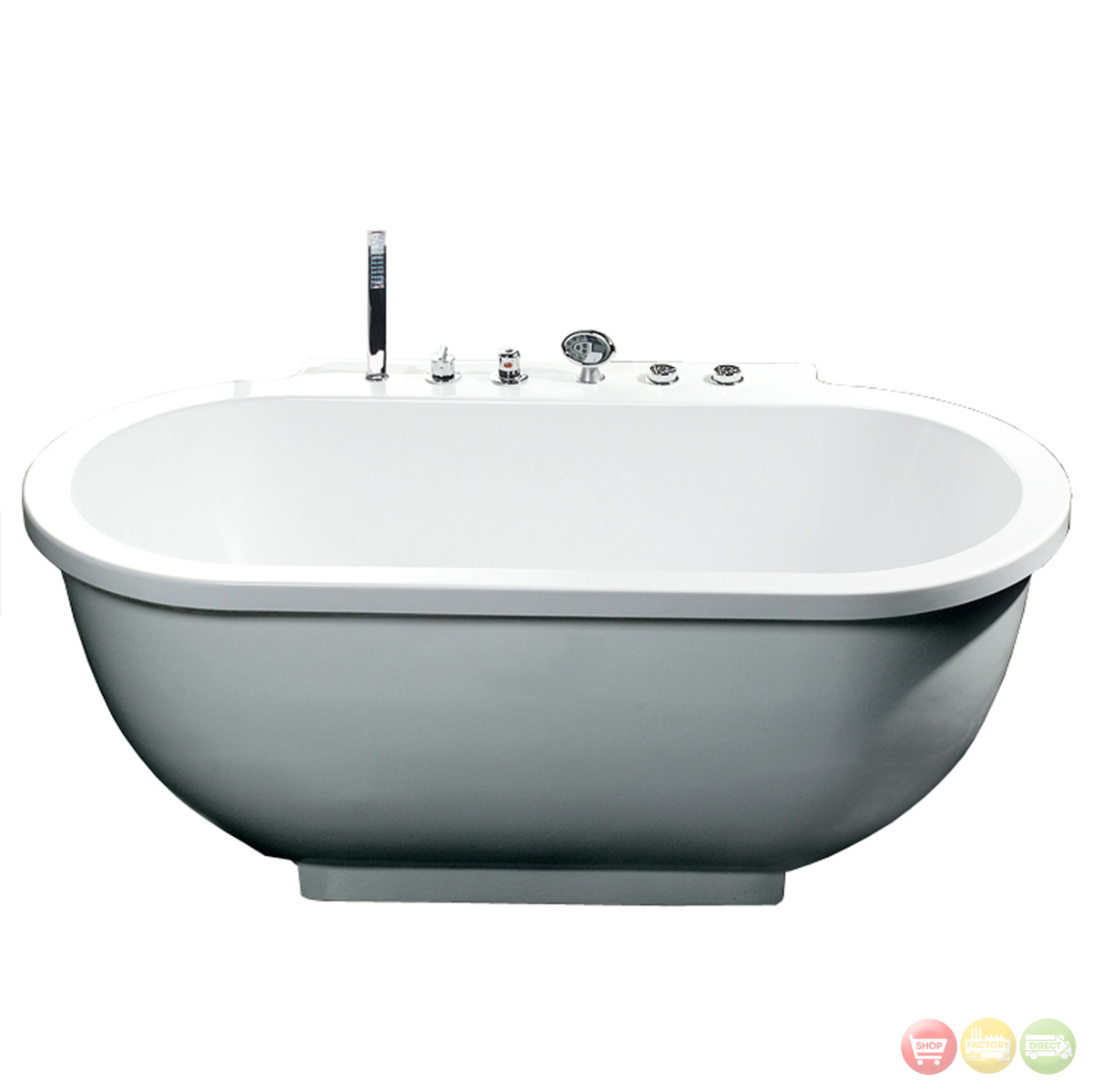 Ariel contemporary bathtub am128jdclz for Royal whirlpool baths
