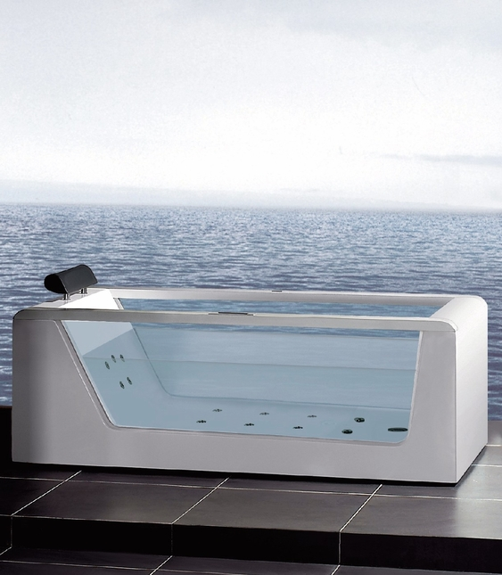 Ariel Platinum 59in Whirlpool Bathtub see through sides AM152