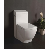 Ariel Platinum Modern White Square Toilet with Elongated Bowl TB336M