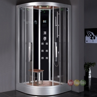 Ariel Platinum Steam Shower and Sauna with folding seat and chromatherapy