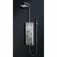 Ariel Stainless Steel Shower Panel w/Square rainfall showerhead A300