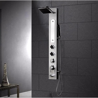 Ariel Stainless Steel Shower Panel with Masasge Jets 12x58 AED-9072