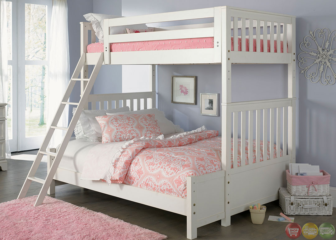 Powell White Twin Bedroom In A Box: Arielle White Finish Youth Traditional Bunkbed Bedroom Set