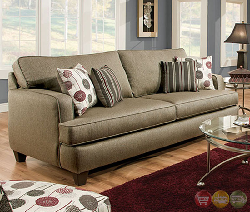 Arman contemporary pewter gray living room set with plush for Quality living room sets