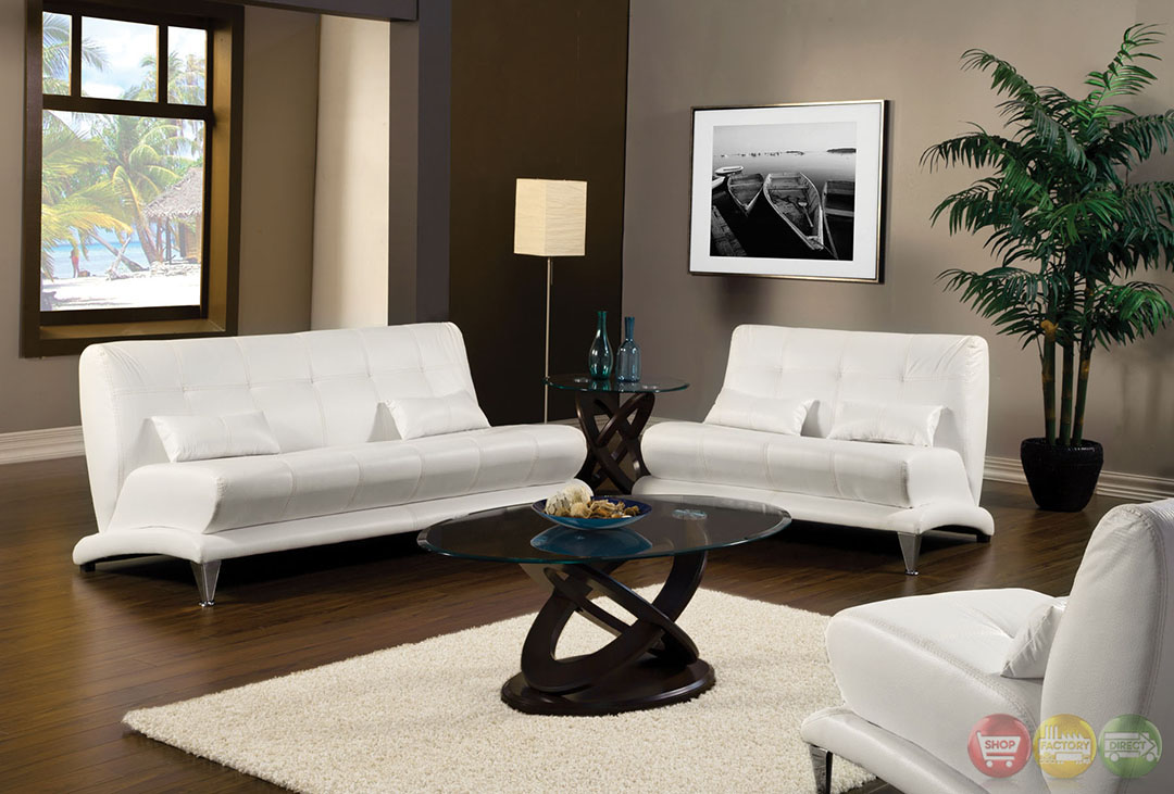 Artem modern white living room set with pillows sm6072 for Modern white living room furniture