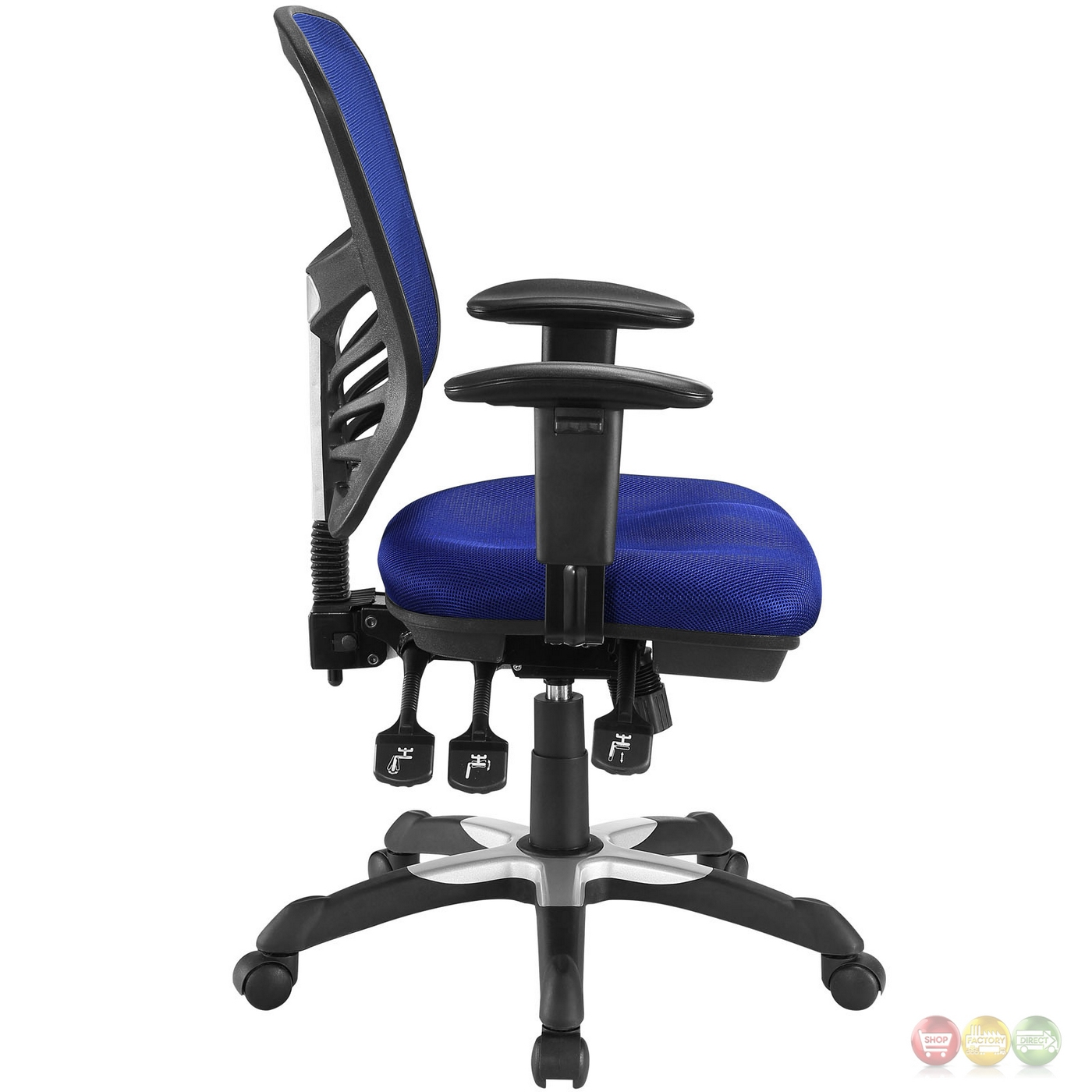 Articulate modern adjustable ergonomic mesh office chair blue for Blue office chair
