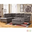 Ashley Alliston Sectional W/ Left Side Facing Chaise In Gray Durablend