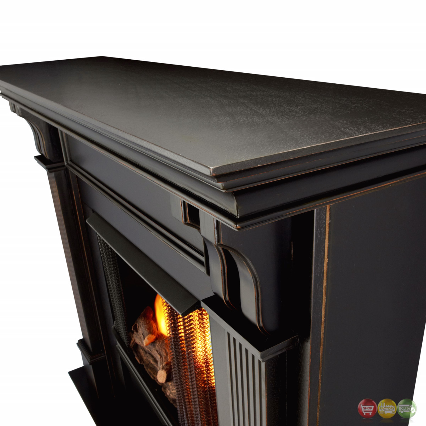 Ashley Indoor Ventless Gel Fireplace In White With Cast