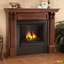Ashley Indoor Ventless Gel Fireplace In White With Cast Logs, 48x42