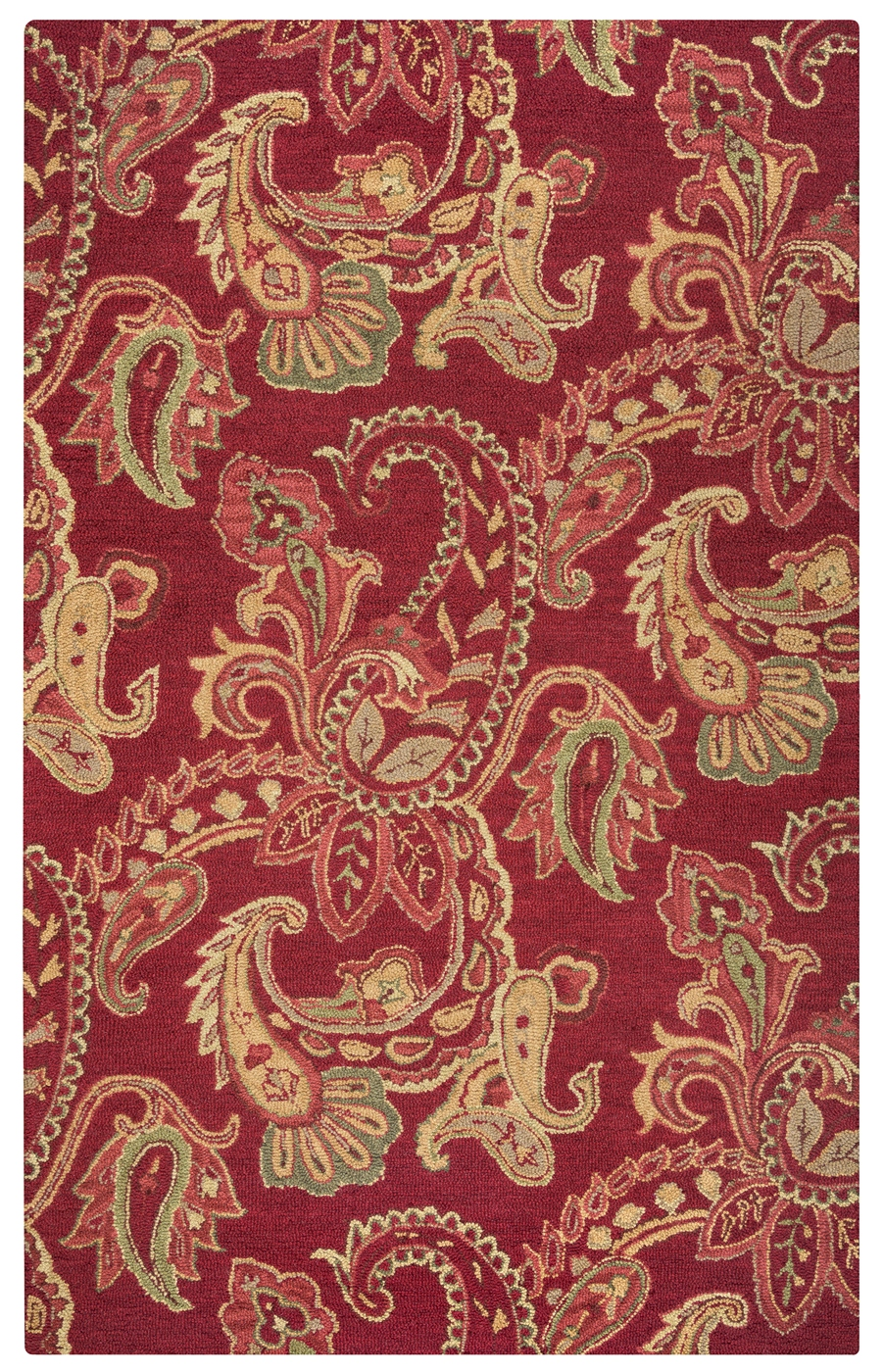 Ashlyn Paisley Pattern New Zealand Wool Area Rug In