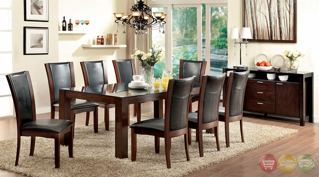Astoria Contemporary Dark Cherry Casual Dining Set with Padded Leatherette Chair