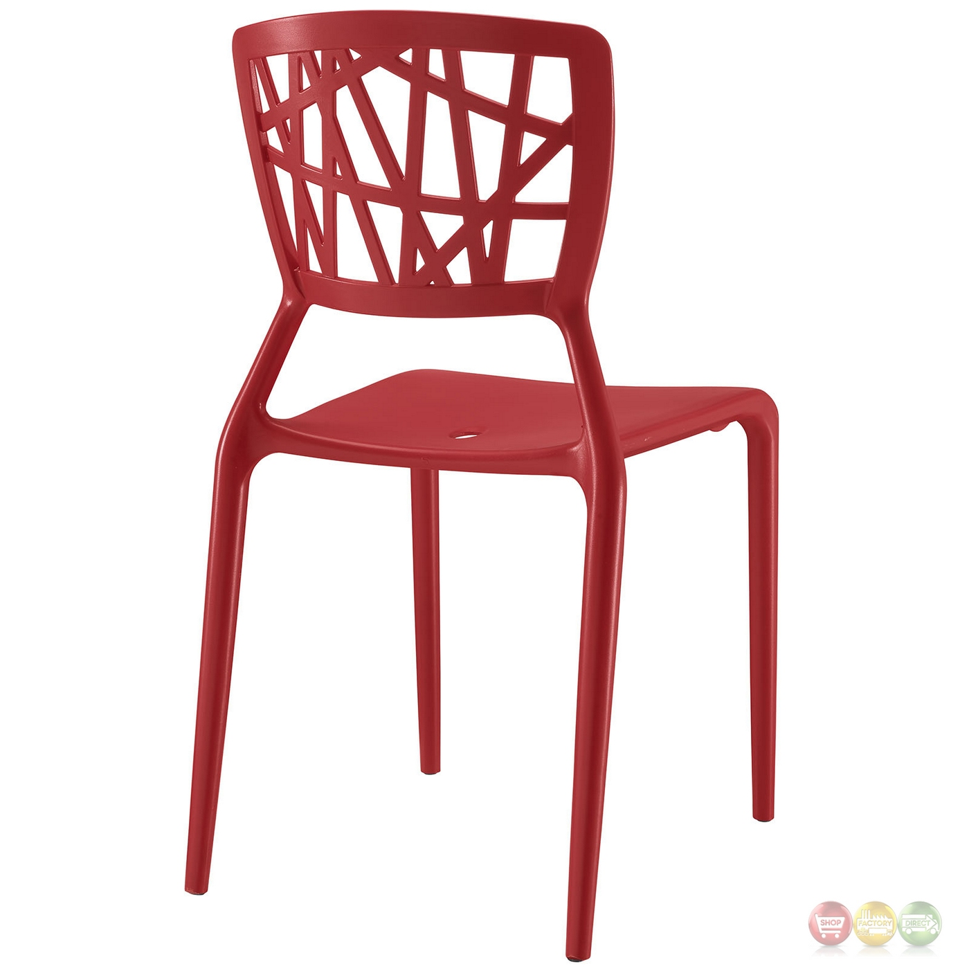 astro modern contoured plastic dining side chair red. Black Bedroom Furniture Sets. Home Design Ideas