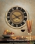 Auguste Verdier Transitional Antiqued Brass Wall Clock  06028