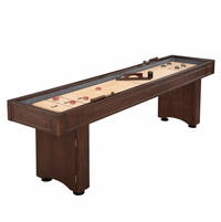 Austin 9-ft Shuffleboard Table With Leg Storage In Mahogany Wood Finish